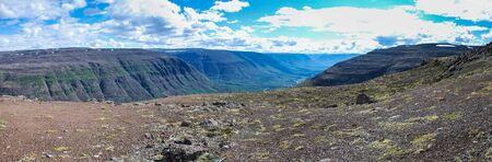 Panorama of Putorana plateau. Mountain landscape of Eastern Siberia. Imagens