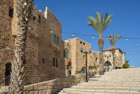 Street in the old city of Jaffa. The ancient city of Jaffa, Israel.