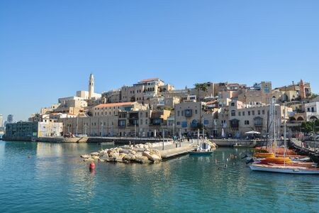 The old city of Jaffa from the Mediterranean Sea. The ancient city of Jaffa, Israel. Stock fotó