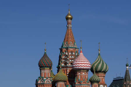 St. Basil's Cathedral in Moscow. Sunny day in the center of the Russian capital.