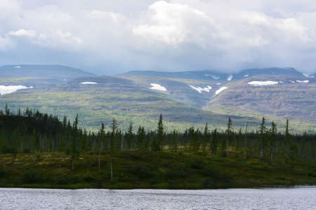 Putorana plateau. Landscape of an inaccessible region in the north of Eastern Siberia.