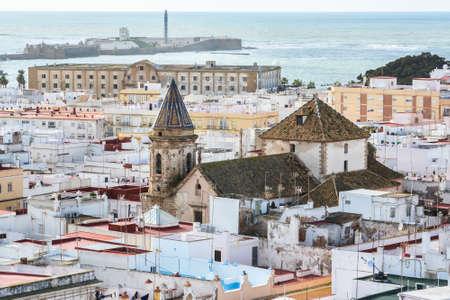 Cadiz, top view. View of the Spanish city on the Atlantic coast.