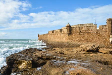 Fort in Cadiz. View of the Spanish city on the Atlantic coast. Archivio Fotografico