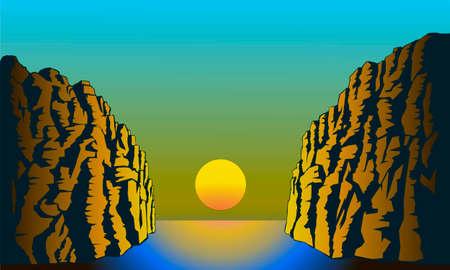 sunrise over the sea gorge