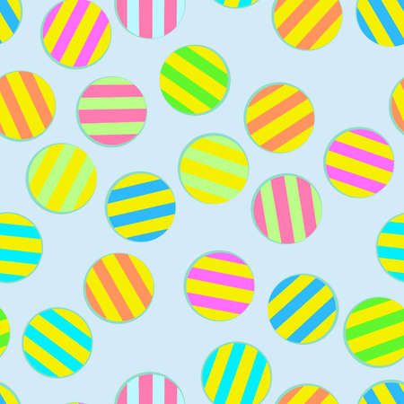 seamless vector pattern of colored striped balloons for prints on fabric or wall and for colorful packaging