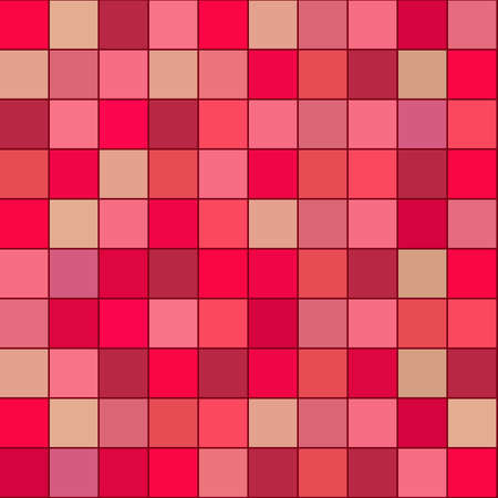 seamless abstract pattern with the image of squares of the same size in red-pink shades for interior decoration and prints on fabric and ceramics