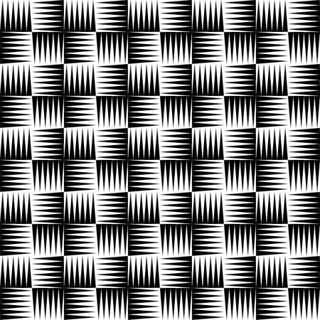 black and white seamless pattern in the form of a geometric ornament for printing on fabric and for interior decoration