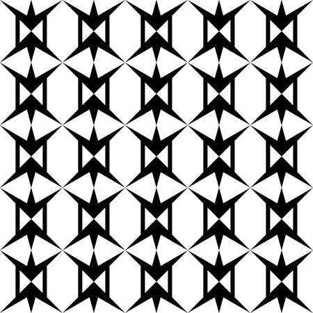 seamless black and white pattern with the image of periodically repeating shapes for printing on fabrics or packaging and for interior decoration
