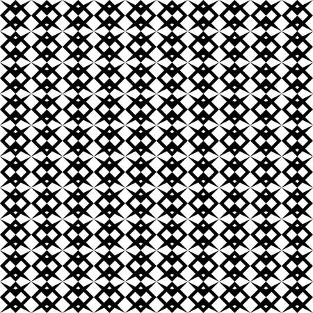 seamless black and white pattern of simple geometric shapes for printing on fabric or packaging, as well as for interior decoration