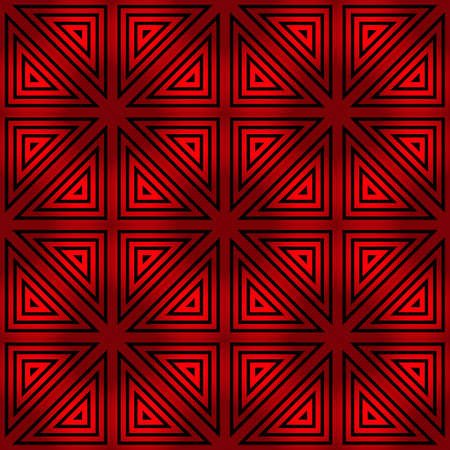 seamless red-black geometric pattern for prints on fabric, packaging, walls and ceramic tiles  イラスト・ベクター素材
