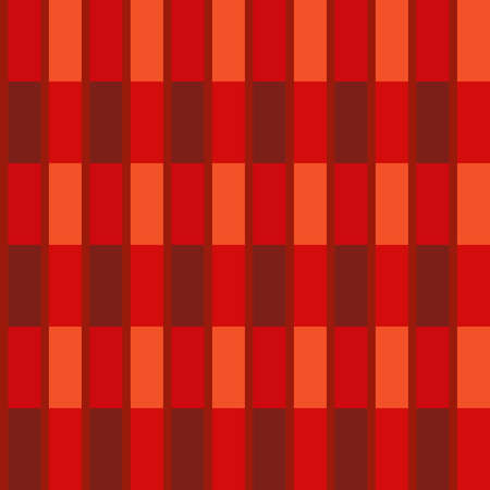 seamless pattern in red colors from rectangles for prints on flannel fabrics, walls and for interior decoration