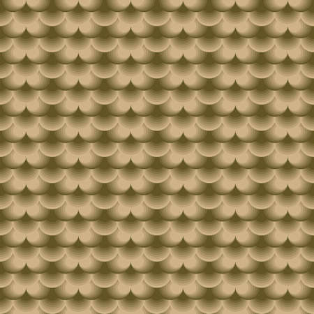 seamless abstract background of half rings of different shades and forming scales in gray-green tones for prints on fabrics and wallpapers, as well as for interior decoration