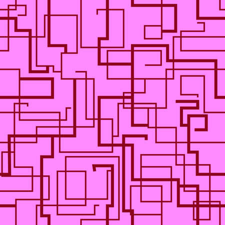 abstract seamless pattern depicting straight lines of various thicknesses at right angles in pink tones for prints on fabrics, packaging and also for interior decoration