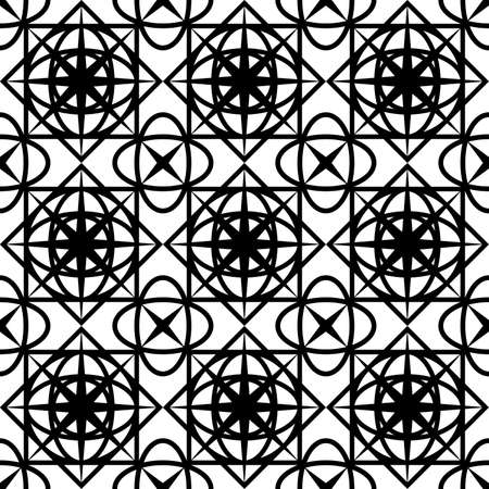 abstract seamless pattern of black color in the form of a grid for screen printing on textiles, packaging, building tiles, as well as for interior decoration