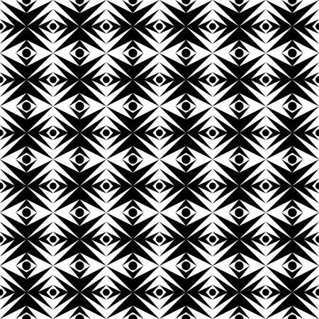 abstract black pattern of geometric symmetrical shapes for prints on fabrics, glass and for decoration and interiors