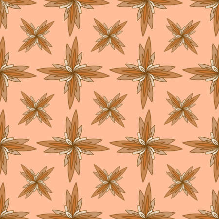 seamless pattern in light brown tones in the form of an ornament for prints on fabric, clothing, bedding, packaging and for decorating various surfaces, cards, banners, walls