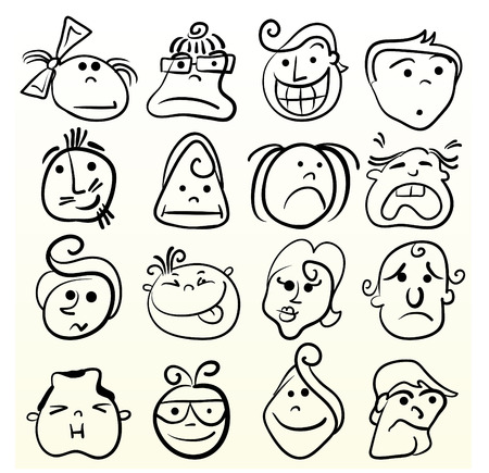 Doodle emotion art Vector