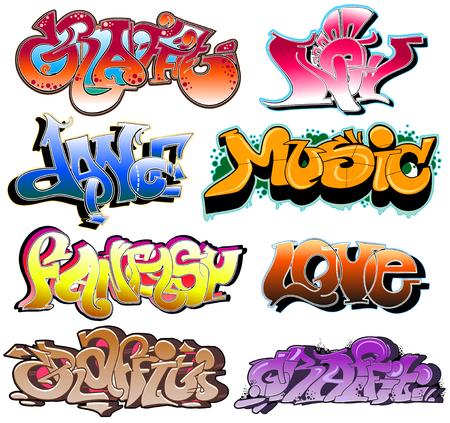Graffiti. Hip-hop urban collection. Stock Vector - 6528105