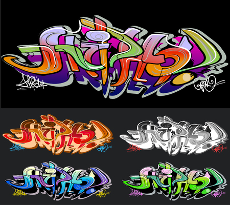hiphop: Graffiti background. Hip-hop design