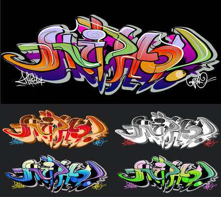 forbidden city: Graffiti background. Hip-hop design