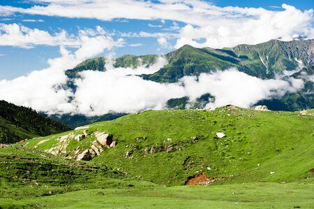 himalaya: Beautiful landscape. Indian Himalaya mountains.  Stock Photo