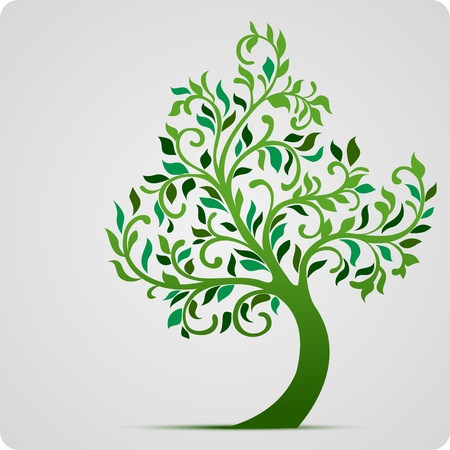 leafage: Tree vector icon  Illustration