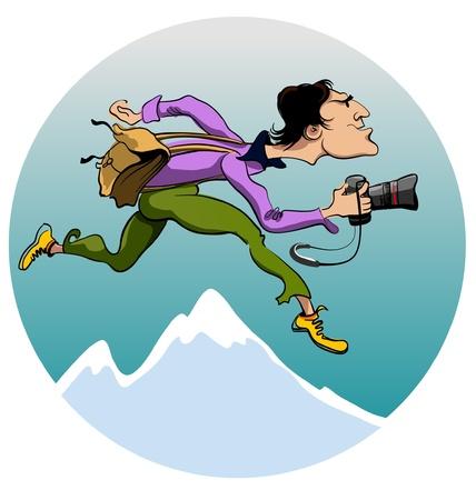 monta�as caricatura: fotograf�a de viajes