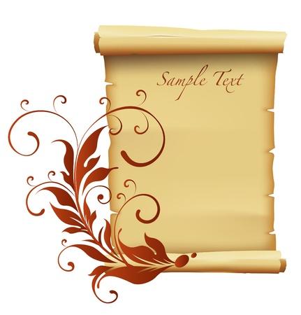 parchment texture: carta decorazione sfondo Vettoriali