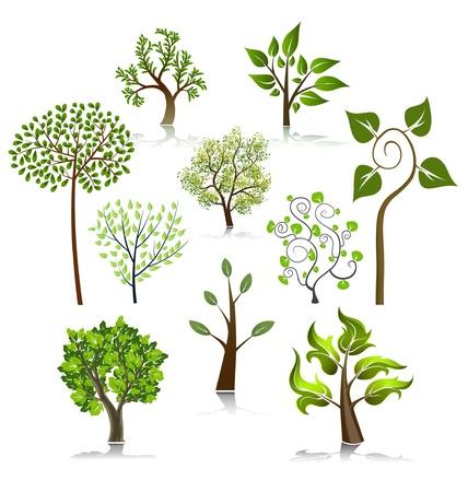 un arbre: Ic�nes de vecteur arbre