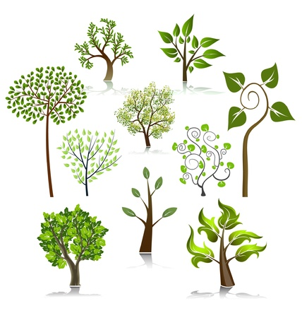 Tree vector icons Stock Vector - 10502565