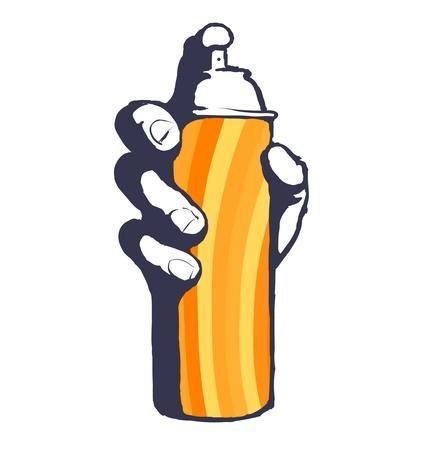 ghetto: Graffiti bomboletta spray hip hop vettore icona