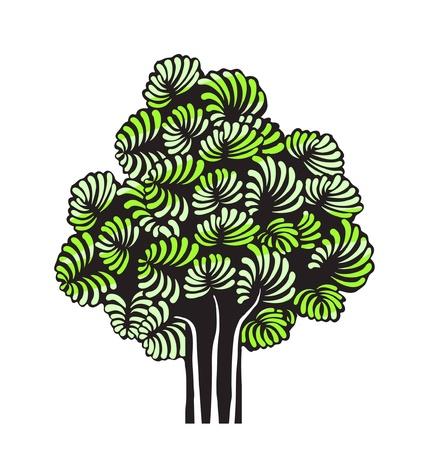 vector green tree Stock Vector - 10502513