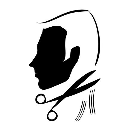 hair scissors: haircut symbol Illustration