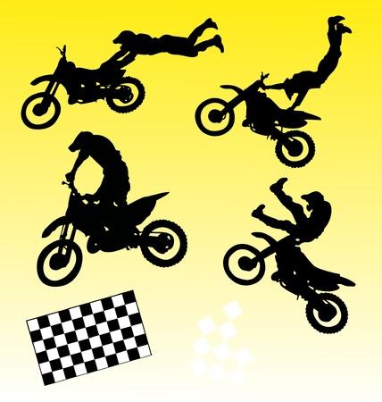 moto silhouettes Stock Vector - 10502382