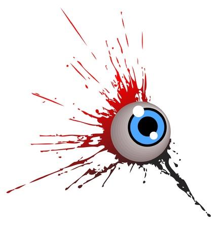 globo ocular: icono de graffiti de ojo grunge Vectores