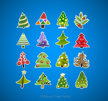 Christmas tree icons vector design Stock Vector - 11204906