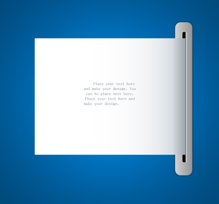 Vector paper frame background for message Vector