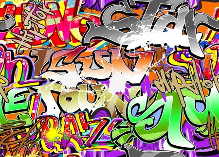 Graffiti wall urban hip hop background  Stock Vector - 11204878