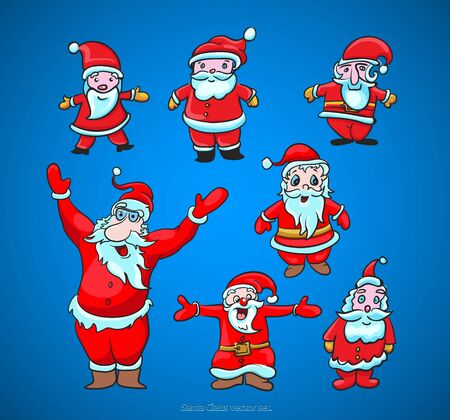 Santa Claus cute christmas vector  Vector
