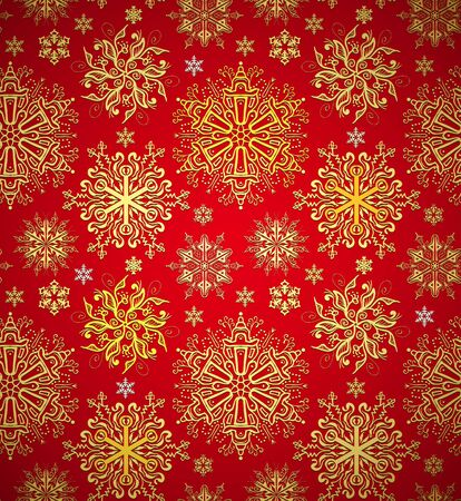 christmas wrapping: Christmas red background texture. Xmas snowflakes seamless  Illustration
