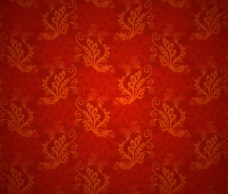 Wallpaper seamless background. Christmas red vintage texture
