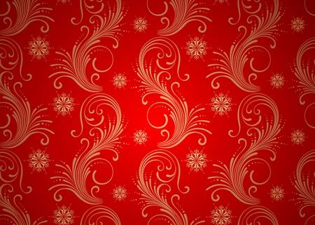 Wallpaper seamless background. Christmas red vintage texture Vector
