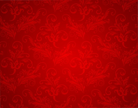 christmas wrapping: Wallpaper seamless background. Christmas red vintage texture