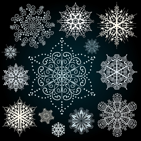 christmas deco: Christmas snowflakes vector art design