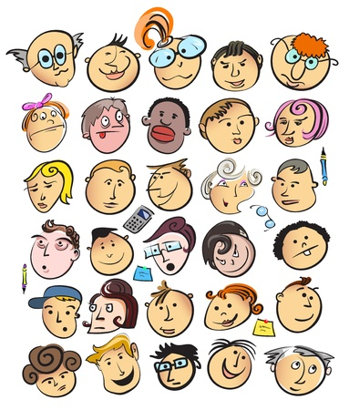 face people cartoon  Vector