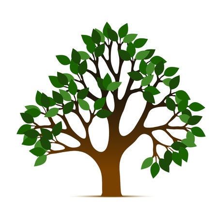 life style: Tree vector icon Illustration