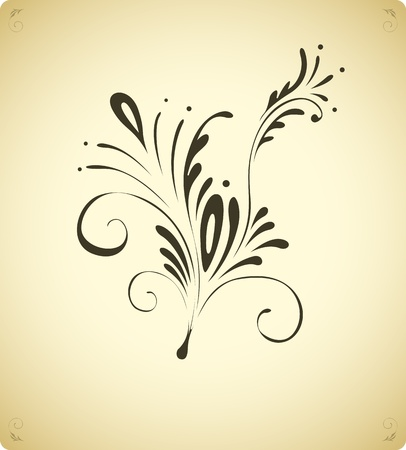 swirl design: Vintage floral decoration element
