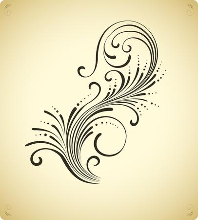 calligraphie chinoise: Vintage �l�ment de d�coration florale
