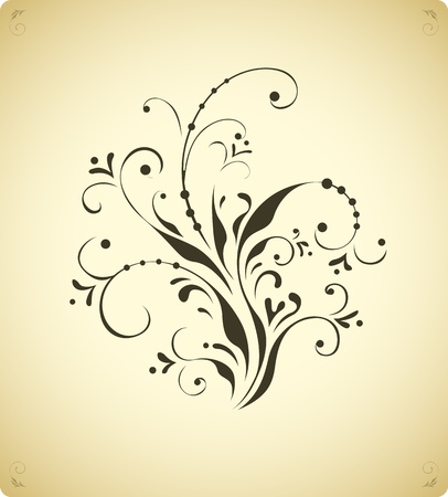 Vintage floral decoration element Vector