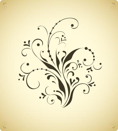 calligraphie arabe: Vintage �l�ment de d�coration florale